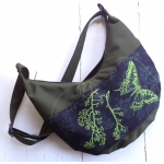 sac banane papillon lime