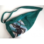 sac loupe turquoise / teal sling bag