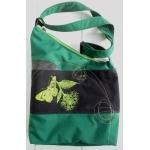 sac triangle vert forêt avec fleur