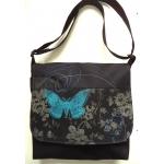 Sac panneau noir avec papillon et motif