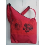 sac triangle rouge cerise