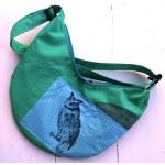 sac banane turquoise hibou
